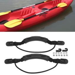 2PC Kayak Canoe Boat Side Mount Carry Handle With Bungee Cor