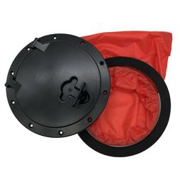 """8"""" Pull Out Hatch Cover Deck Plate & Red Bag for Boat Canoe"""