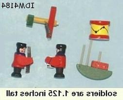 Dollhouse Toys Accessories Drum Plane 2 Soldiers and a Boat