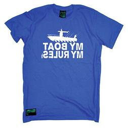 Fishing T-Shirt Funny Novelty Mens tee TShirt - My Boat My R