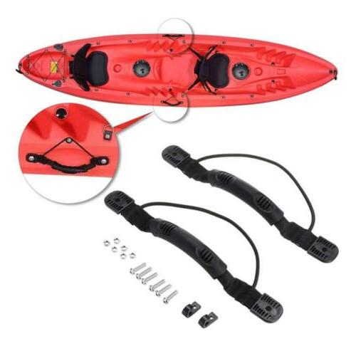 2PC Kayak Boat Side Mount Handle With Bungee Accessories