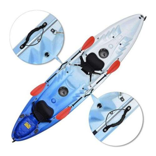 2PC Kayak Canoe Boat Side Carry With Bungee Cord Accessories