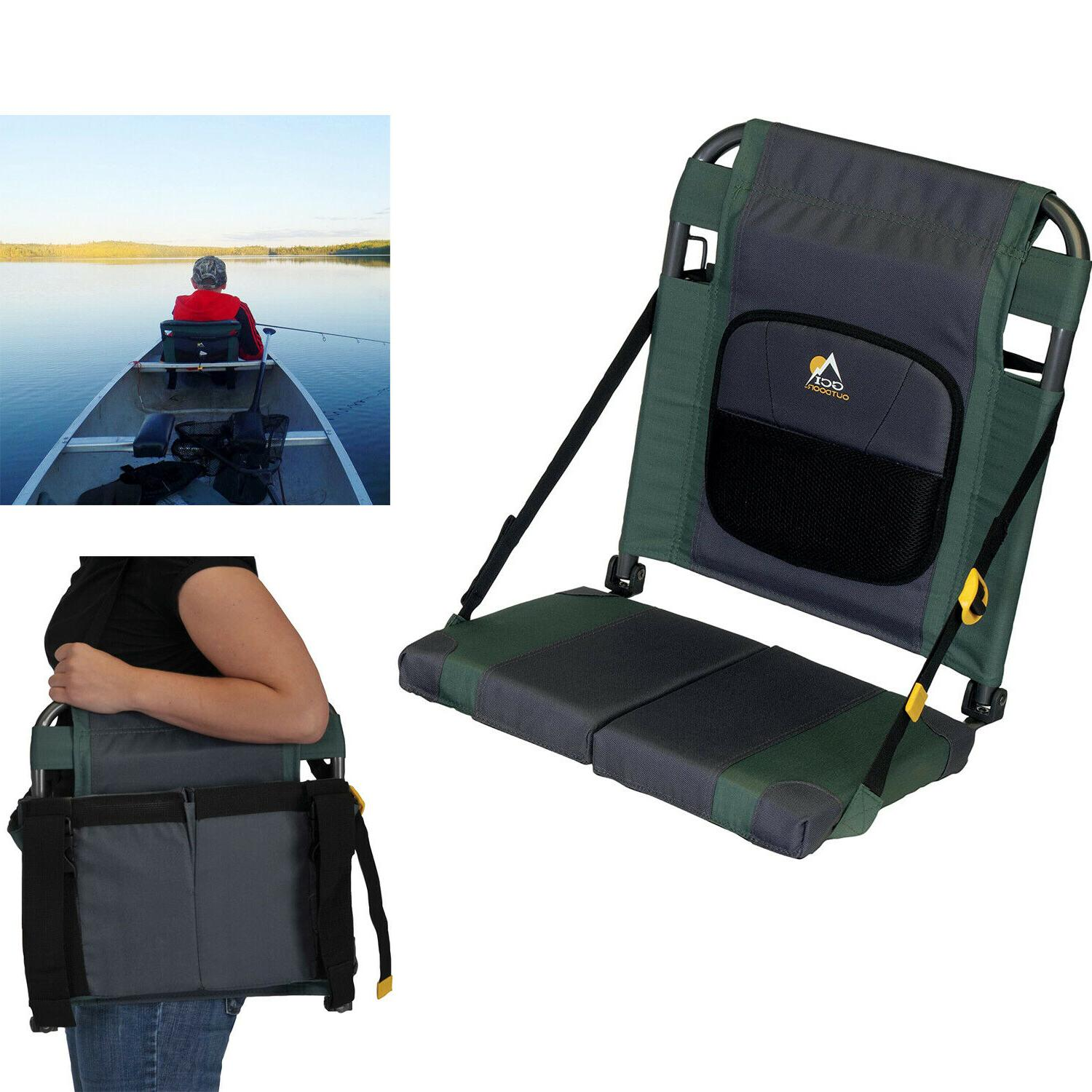 outdoor sitbacker adjustable canoe seat with back