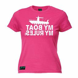 My Boat My Rules WOMENS Drowning Worms T-SHIRT tee birthday