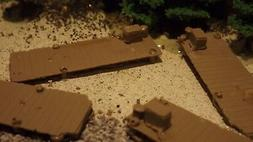 N-Scale  6 Unfinished Fishing/ Boat Docks 1:160 Model Train